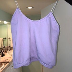 Free People Lavender Skinny Strap Brami